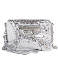 ec7729d69a42 Balenciaga - Extra Small Classic Reporter Leather Shoulder Bag - Metallic -  Lyst