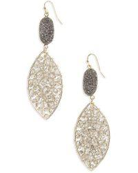 Panacea - Drusy Crystal Earrings - Lyst
