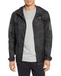 adidas - Response Graphic Hooded Jacket - Lyst