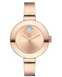 Movado - 'bold' Crystal Accent Bangle Watch - Lyst