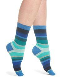 Paul Smith - Blue Tonal-Stripe Socks - Lyst