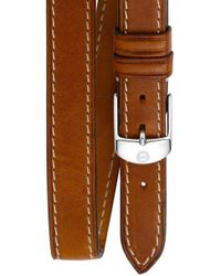 Michele - 18mm Leather Double Wrap Watch Strap - Lyst