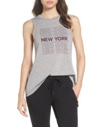 David Lerner - New York High/low Muscle Tank - Lyst