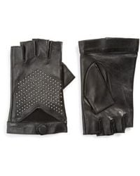 Mackage - Swinley Fingerless Lambskin Leather Gloves - Lyst