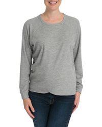Bun Maternity - Tulip Front Maternity/nursing Sweatshirt - Lyst