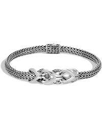 John Hardy - Chain Silver Foxtail Bracelet - Lyst