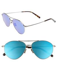 169bd41654 DIFF - Scout 53mm Aviator Sunglasses - Light Gunmetal  Ice Blue - Lyst