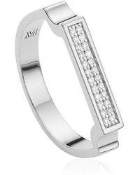 Monica Vinader - Diamond Signature Ring - Lyst