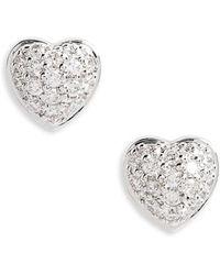 Roberto Coin - Puffed Heart Diamond Earrings - Lyst