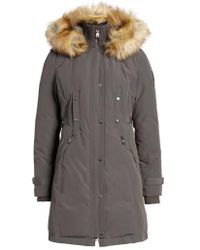 Vince Camuto - Faux Fur Trim Down & Feather Fill Parka - Lyst
