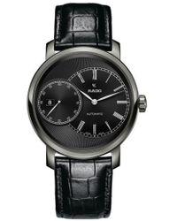 Rado - Diamaster Grande Seconde Automatic Leather Strap Watch - Lyst