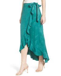 Chelsea28 - Jacquard High/low Wrap Skirt - Lyst