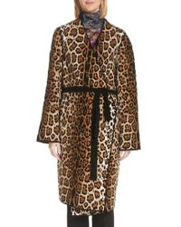 Fuzzi - Mixed Leopard Wrap Coat - Lyst