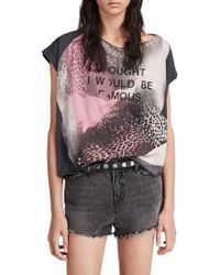 AllSaints - I Thought I Would Be Famous T-shirt - Lyst