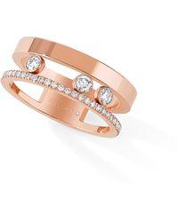 Messika - Two Row Move Romane Diamond Ring - Lyst
