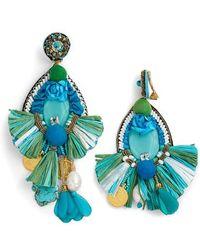 Ranjana Khan - Bluejay Tassel Earrings - Lyst