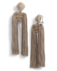 Sachin & Babi - Noir Dupio Tassel Drop Earrings - Lyst