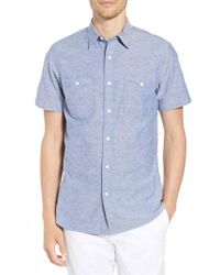 Nordstrom - 1901 Trim Fit Workwear Chambray Sport Shirt - Lyst