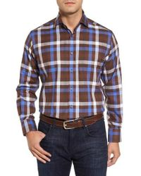 Thomas Dean | Dobby Check Sport Shirt | Lyst