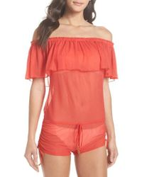 Luli Fama - Drifter Off The Shoulder Cover-up Romper - Lyst