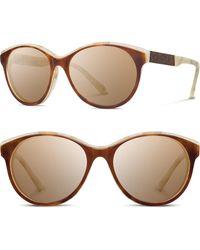Shwood - 'madison' 54mm Polarized Sunglasses - Salt Caramel/mahogany/brown - Lyst