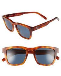 Ferragamo - 51mm Polarized Sunglasses - Light Tortoise - Lyst