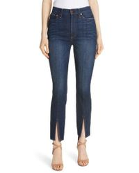 Alice + Olivia - Good High Waist Front Slit Skinny Jeans - Lyst