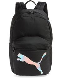 Lyst - PUMA Pace Hooded Backpack in Black for Men 99312ae4f68c5