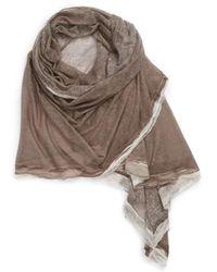 La Fiorentina - Silk & Cashmere Wrap - Lyst