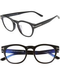 2372c934877c Lyst - Tom Ford Callum Acetate Square Sunglasses Shiny Black in ...