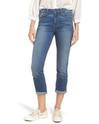 Jen7 - Rolled Straight Leg Crop Jeans - Lyst