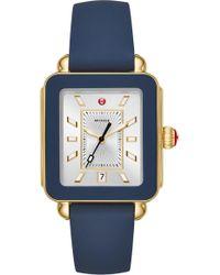 Michele - Deco Sport Watch Head & Silicone Strap Watch - Lyst