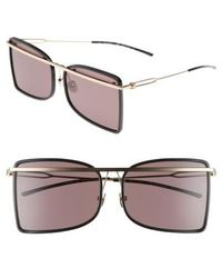 Calvin Klein - 60mm Butterfly Sunglasses - Lyst