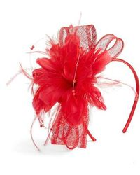 Nordstrom - Feather & Imitation Pearl Fascinator Headband - - Lyst