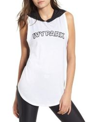 Ivy Park - Mesh Back Hooded Tank - Lyst