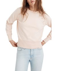 Madewell - Button Detail Sweatshirt - Lyst