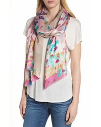 Echo - Springtime Double-face Silk Scarf - Lyst
