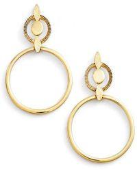 Badgley Mischka - Geometric Drop Earrings - Lyst