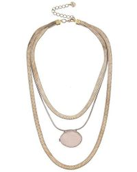 Nakamol - Layered Snake Chain & Drusy Pendant Necklace - Lyst