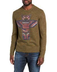Michael Bastian - Intarsia Totem Pole Sweater - Lyst