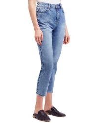 Free People - Mom Ankle Jeans - Lyst