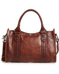 Frye - 'melissa' Washed Leather Satchel - Lyst