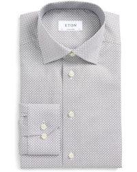 Eton of Sweden | Contemporary Fit Geometric Dress Shirt | Lyst