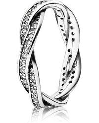 PANDORA - Twist Of Fate Ring - Lyst