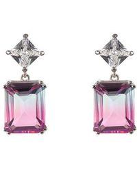 Nina - Deco Double Drop Earrings - Lyst