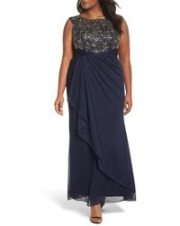 Decode 1.8 - Embroidered Cap Sleeve Gown - Lyst
