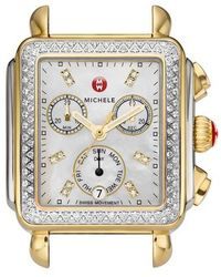 Michele - Deco Diamond Diamond Dial Two-tone Watch Case - Lyst