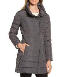 MICHAEL Michael Kors - Water Repellent Packable Puffer Coat, Grey - Lyst
