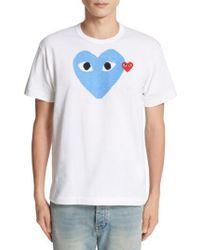 Play Comme des Garçons   Heart Print T-shirt   Lyst