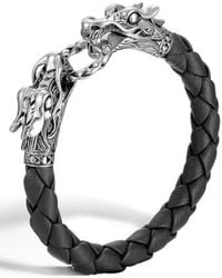 John Hardy - 'legends' Leather Dragon Bracelet - Lyst